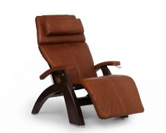 Perfect Chair® PC-420 Classic Manual Plus - cognac pads with dark walnut base