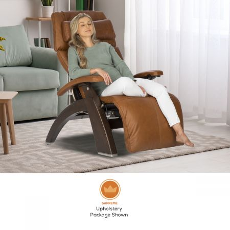 Woman in Perfect Chair PC-610 in Supreme Upholstery Package, in a room setting