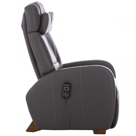 Profile view of gray Lito recliner