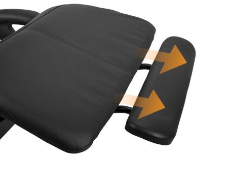 Perfect Chair® extending footrest - shown on chair