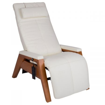 Gravis ZG Chair in Bone upholstery with a Beech base
