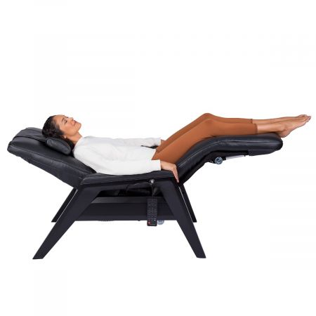 Gravis ZG Chair profile view in zero gravity with woman in chair