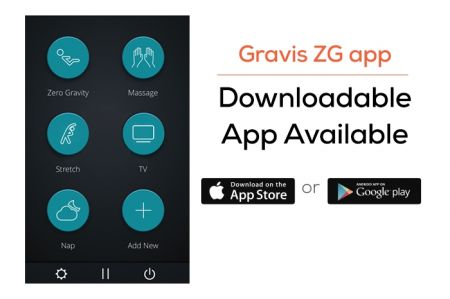 Gravis ZG Chair remote control - Showing app