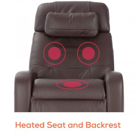 Showing heat feature in the brown Lito recliner