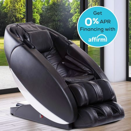 Novo Massage Chair in Black - In a Room Setting with Financing Offer