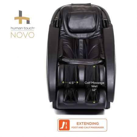Novo Massage Chair in Black - Foot and Calf Massager Dimensions