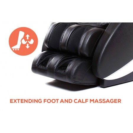 Novo XT2 Massage Chair in Black - Foot and Claf Massager Close-up