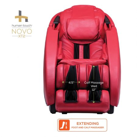 Novo XT2 Massage Chair in Red - Foot and Calf Massage Dimensions