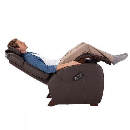 Man reclined in brown Lito recliner