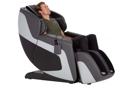 Sana Massage Chair in Gray - With a Man in Chair