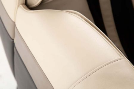 Sana Massage Chair in Cream - Upholstery Close-Up