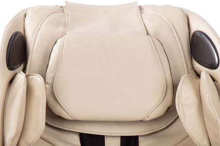 Sana Massage Chair in Cream - Head Pillow Close-Up