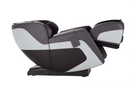 Sana Massage Chair in Gray - Side View Reclined