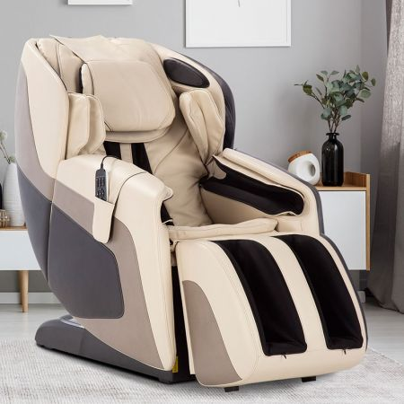 Sana Massage Chair in Cream - In a Room