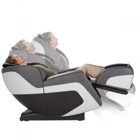 "Sana Massage Chair in Gray - Shown ""in motion"" reclining into zero gravity"