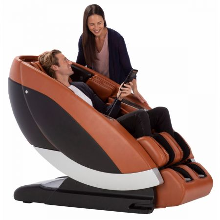 Super Novo Massage Chair - man in saddle chair with woman beside him