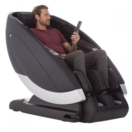Super Novo Massage Chair - black chair, man in chair