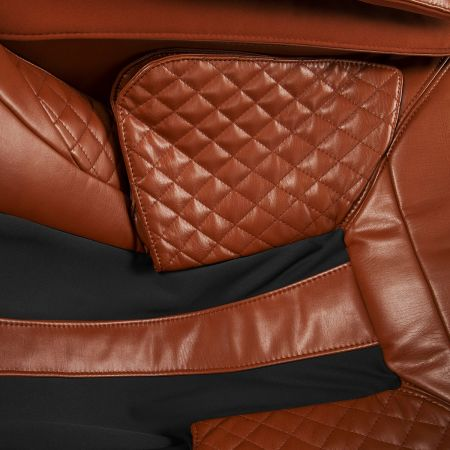Super Novo Massage Chair - saddle chair - closeup of upholstery