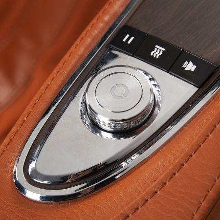 Super Novo Massage Chair - saddle chair - closeup of fingertip controls