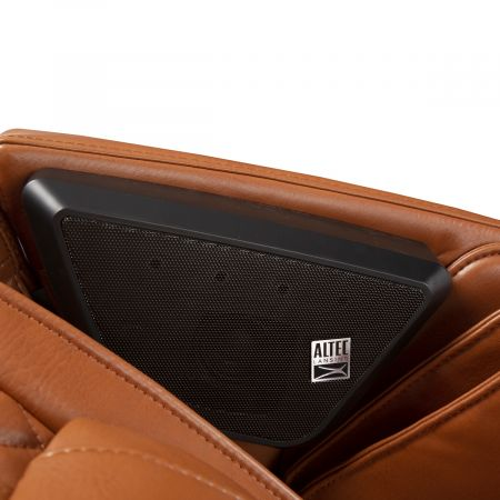 Super Novo Massage Chair - saddle chair - closeup of Altec Lansing speakers