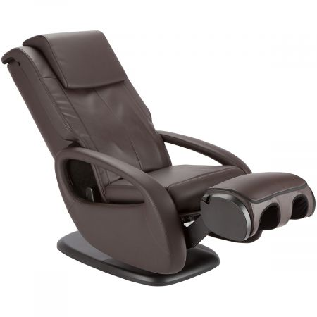 WholeBody 7.1 massage chair in Espresso upholstery - Showing Ottoman option