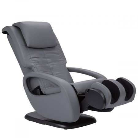 WholeBody 7.1 massage chair in Gray upholstery - Showing foot massager facing up