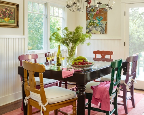 Shabby Chic Style Dining Room, original photo on Houzz