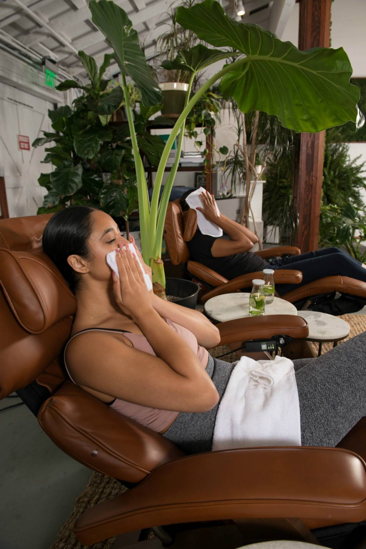 Clients using their Perfect Chair recliners in the recovery room