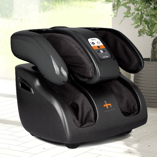 Reflex SWING Pro Foot, Calf, and Thigh Massager in a room setting