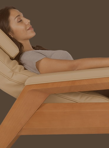 massage chair girl relax back pain
