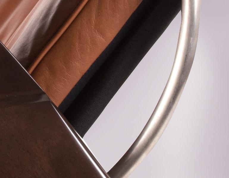 leather steel elements zero gravity chair